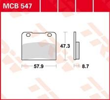 TRW Plaquettes de frein organique MCB547