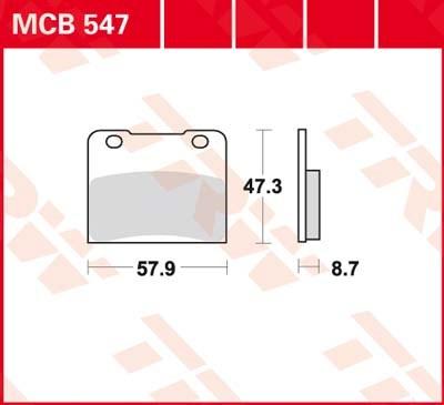 TRW Standaard remblokken MCB547