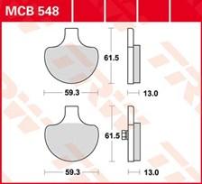 TRW Plaquettes de frein organique MCB548