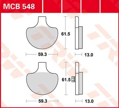 TRW Standaard remblokken MCB548