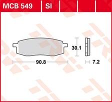 TRW Plaquettes de frein organique MCB549