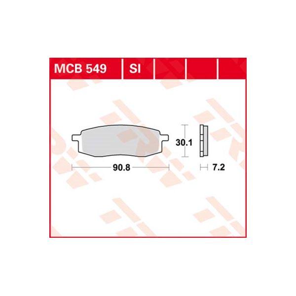 TRW Standaard remblokken MCB549