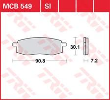 TRW Plaquettes de frein métal fritté SI MCB549SI