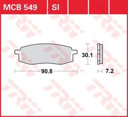 TRW plaquettes de frein métal fritté