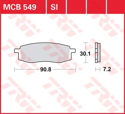 TRW SI Remblokken sinter metaal MCB549SI