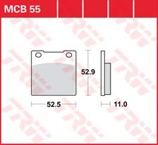 TRW Plaquettes de frein organique MCB055