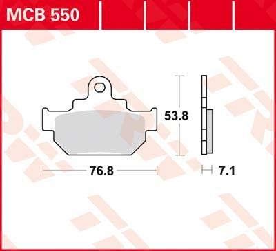 TRW Plaquettes de frein organique MCB550