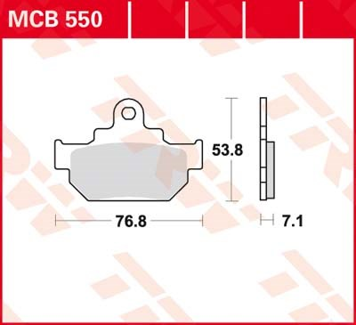 TRW Standaard remblokken MCB550