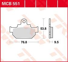 TRW Plaquettes de frein organique MCB551