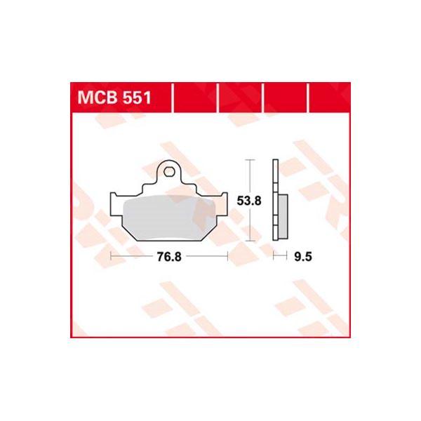 TRW Standaard remblokken MCB551