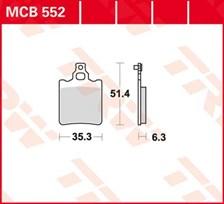 TRW Plaquettes de frein organique MCB552
