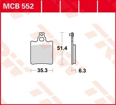 TRW Standaard remblokken MCB552