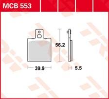TRW Plaquettes de frein organique MCB553