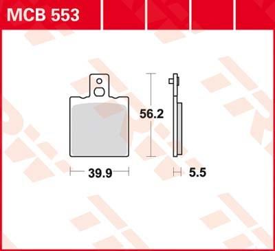 TRW Standaard remblokken MCB553