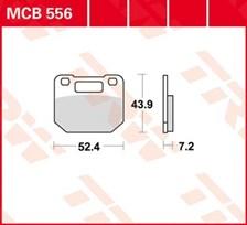 TRW Plaquettes de frein organique MCB556