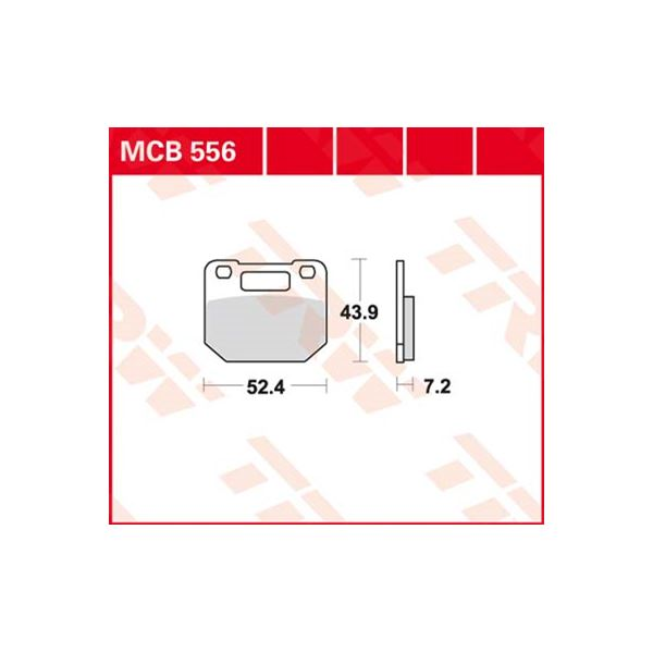 TRW Standaard remblokken MCB556