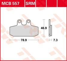 TRW Plaquettes de frein organique MCB557