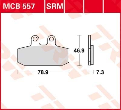 TRW Standaard remblokken MCB557