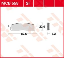 TRW Plaquettes de frein organique MCB558