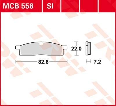 TRW Standaard remblokken MCB558