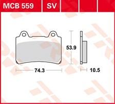 TRW Plaquettes de frein organique MCB559