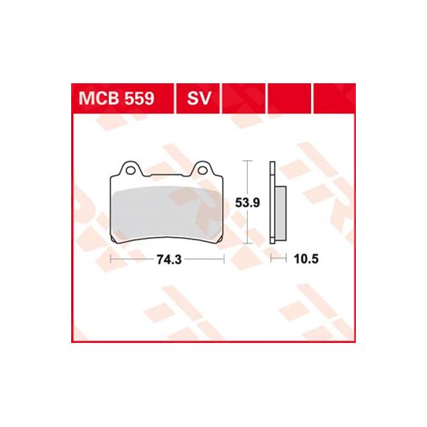 TRW Standaard remblokken MCB559
