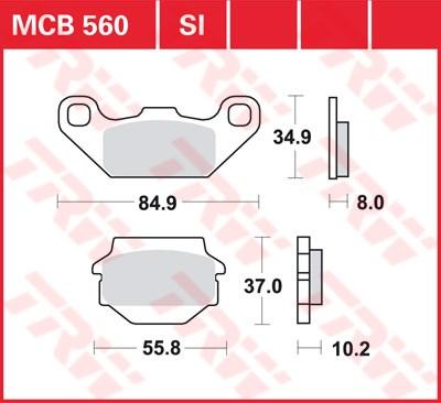 TRW SI Remblokken sinter metaal MCB560SI