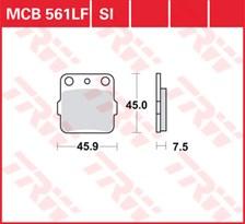 TRW Plaquettes de frein métal fritté SI MCB561SI