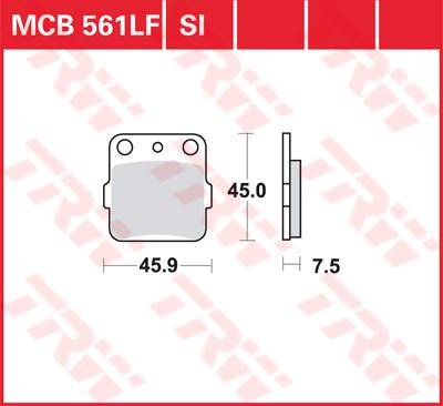TRW SI Remblokken sinter metaal MCB561SI