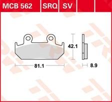 TRW Plaquettes de frein organique MCB562