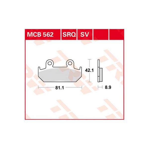 TRW Standaard remblokken MCB562