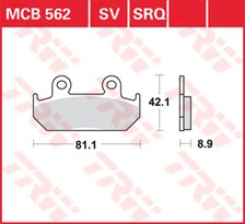 TRW Plaquettes de frein SRQ  MCB562SRQ