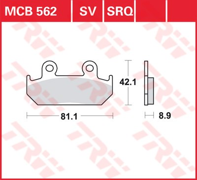 TRW SRQ remblokken MCB562SRQ