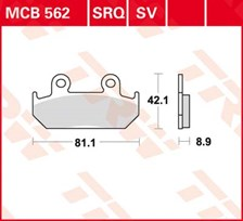 TRW Plaquettes de frein SV/SH MCB562SV