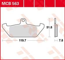 TRW Plaquettes de frein organique MCB563