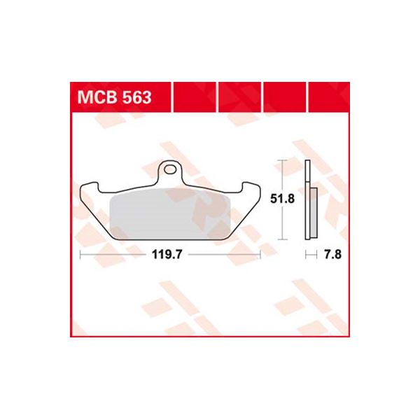 TRW Standaard remblokken MCB563