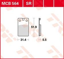 TRW Plaquettes de frein organique MCB564