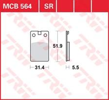 TRW Plaquettes de frein métal fritté MCB564SR