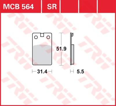 TRW Sinter metaal remblokken MCB564SR