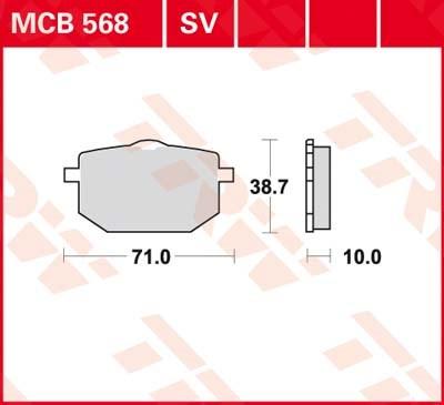TRW Standaard remblokken MCB568