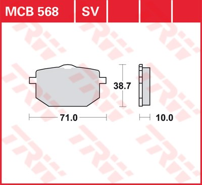 TRW SV/SH Remblokken MCB568SV