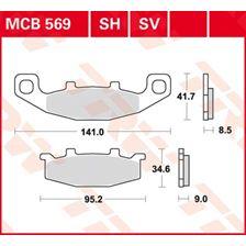 TRW Plaquettes de frein organique MCB569