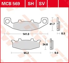 TRW Plaquettes de frein SV/SH MCB569SH