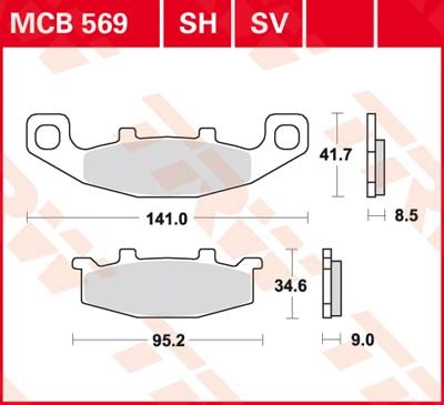 TRW SV/SH Remblokken MCB569SH