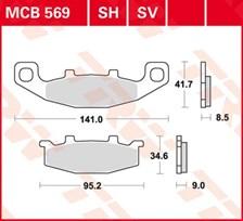 TRW Plaquettes de frein SV/SH MCB569SV