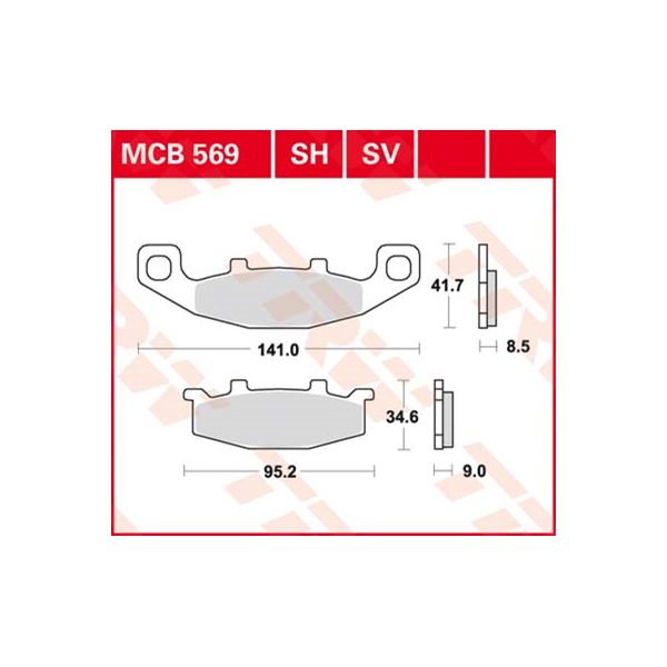 TRW SV/SH Remblokken MCB569SV