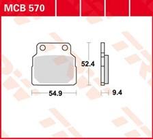 TRW Plaquettes de frein organique MCB570