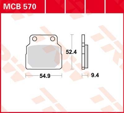 TRW Standaard remblokken MCB570