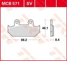 TRW Plaquettes de frein organique MCB571