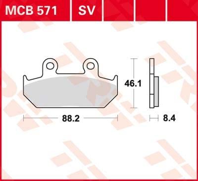 TRW Standaard remblokken MCB571